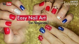 DIY Cute & Easy Nail Art Polish Designs for Beginners! - 4th of July