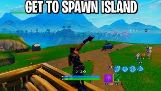 How To Get To Spawn Island In Fortnite (Solo Method)