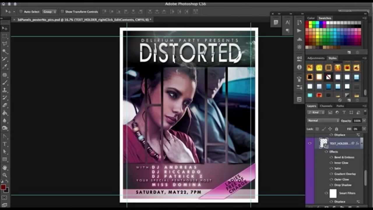 How To Movie Poster Template For Photoshop Tutorial By Scarab13