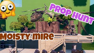 Fortnite PROP HUNT Map code ( Moisty Mire film set ) SEASON 10