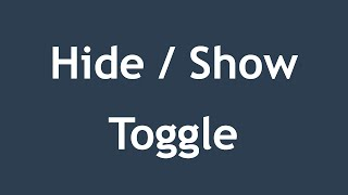 [ jQuery In Arabic ] #04 - Effects - Hide / Show / Toggle