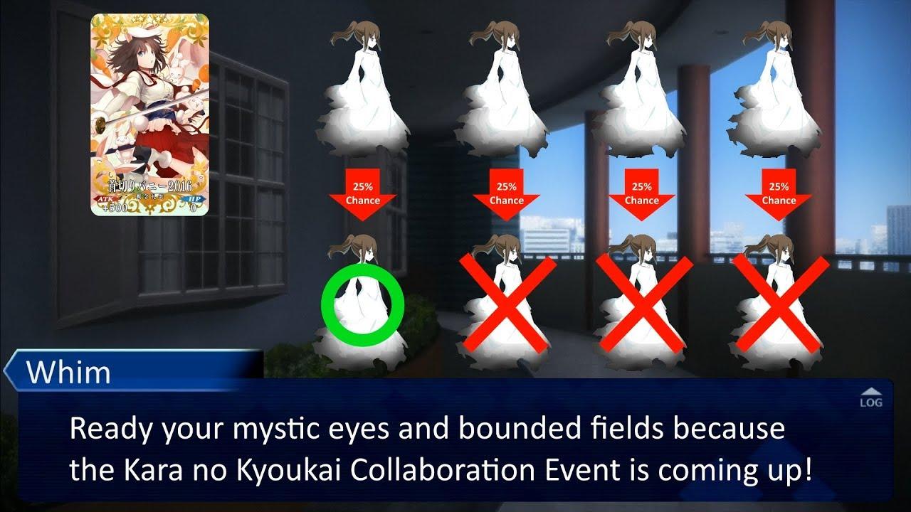 FGO Kara no Kyoukai 3-Minute Event Guide