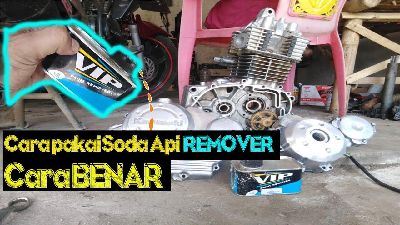 Cara Pakai Soda Api Remover Bersihkan Cat Mesin Motor Cocomx Youtube