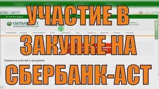 Участие в аукционе на Сбербанк АСТ