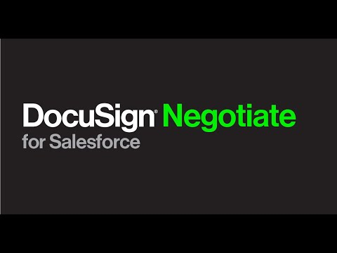 DocuSign Negotiate for Salesforce