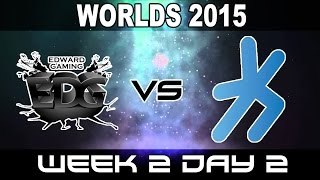 EDG vs H2K - 2015 World Championship Week 2 Day 2 - EdwarD Gaming vs H2K Gaming