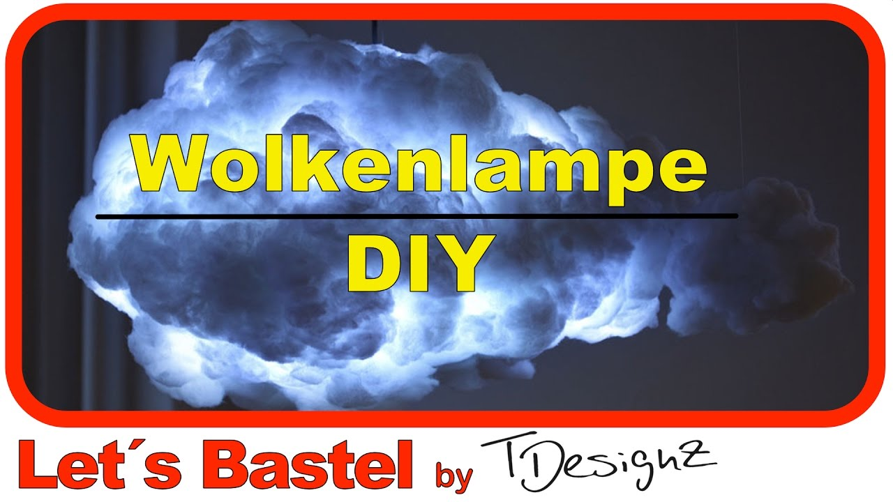 diy designer h ngelampe wolkenlampe selber machen anleitung youtube. Black Bedroom Furniture Sets. Home Design Ideas