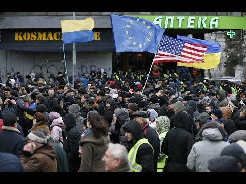 News. In #Ukraine they want to change their power. Protests