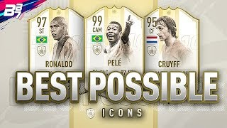 BEST POSSIBLE ICON TEAM w/ 99 PELE AND 97 RONALDO!  | FIFA 19 ULTIMATE TEAM