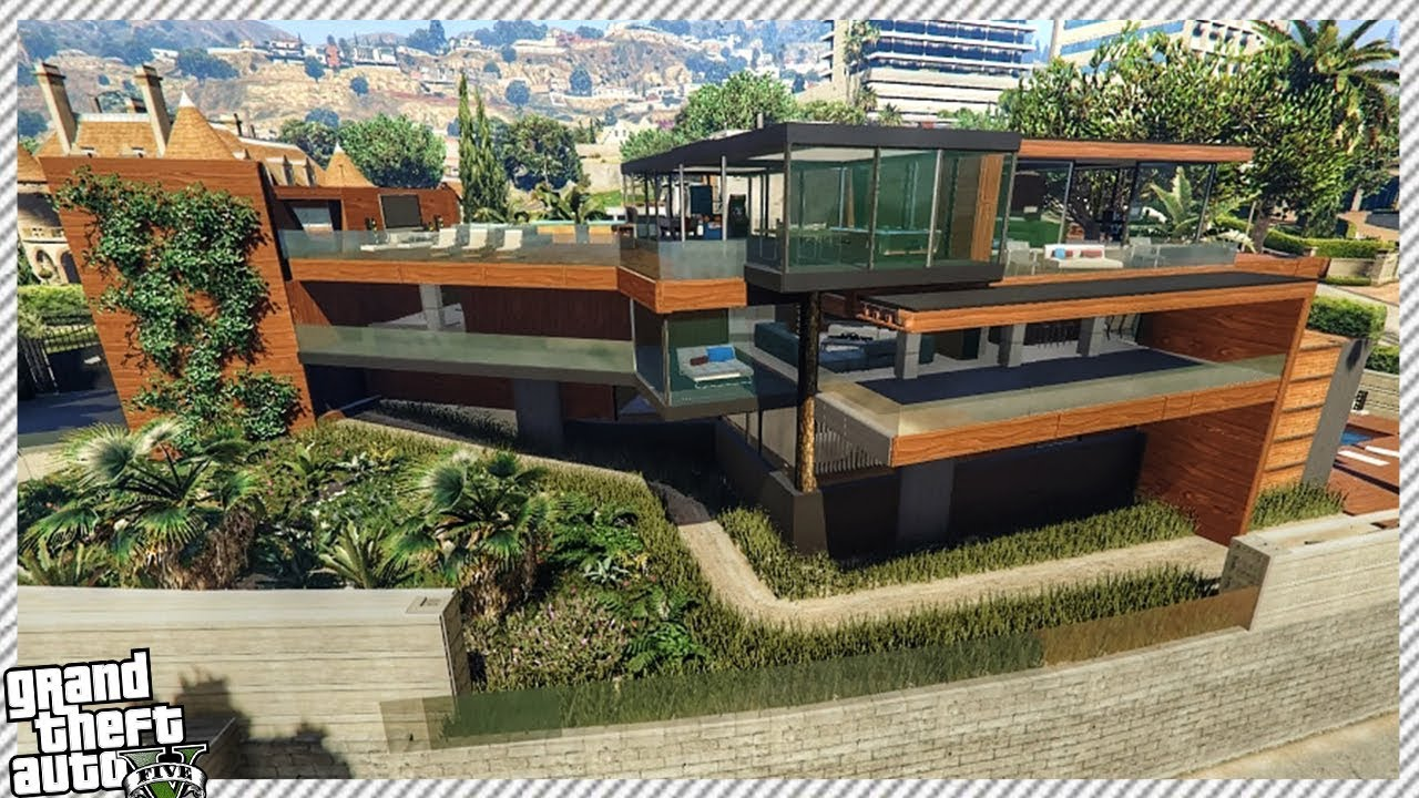 GTA 5 Modern Billionaire Wooden House (GTA 5 New House Mod Gameplay)