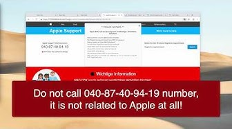 Fehler # AP7MQ79 fake Apple Support Telefonnummer 040-87-40-94-19 removal.