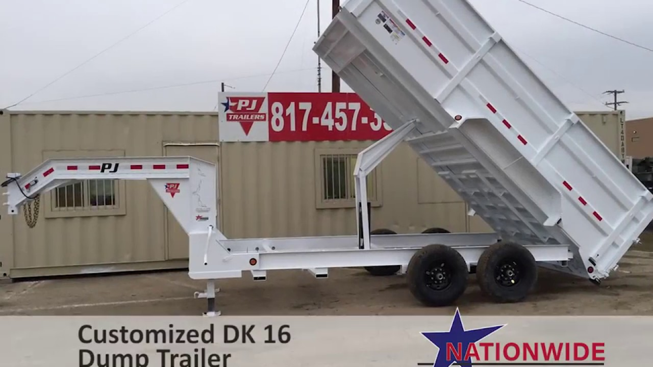Tilt Container Trailers For Sale In Tx Nationwide Trailers >> Dk 16 Customized Dump Trailer Pj Trailers