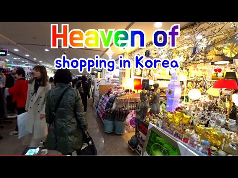 Heaven of shopping in Seoul Express (gosok) in Bus Terminal street  高速巴士总站