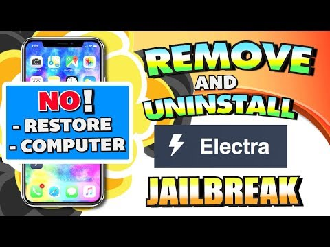 How To Remove/Uninstall Electra Jailbreak WITHOUT RESTORING (NO COMPUTER) iOS 11 - 11.1.2