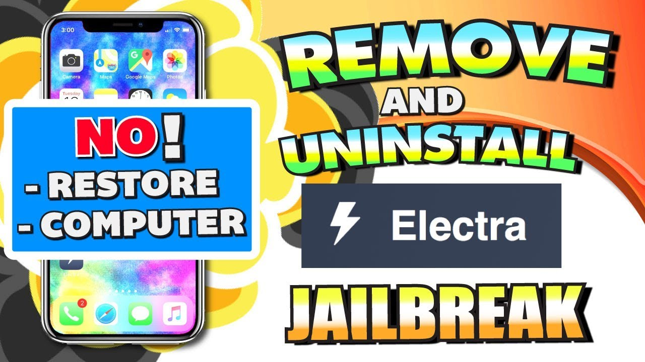 how to remove jailbreak without computer