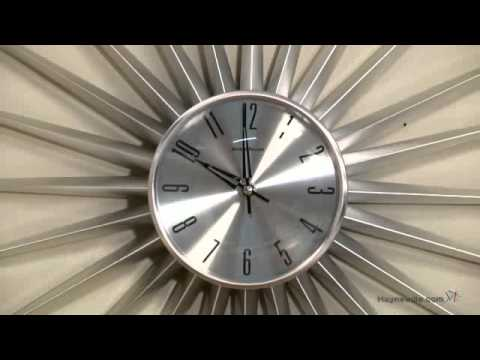 George Nelson Silver Metal Sunburst Clock Product Review Video