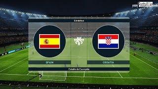 PES 2019 | Spain vs Croatia | Ramos vs Modric & Amazing Goals | Gameplay PC