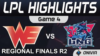 WE vs LNG Highlights Game 4  LPL Regional Finals R2 2021 Team WE vs LNG Esports by Onivia