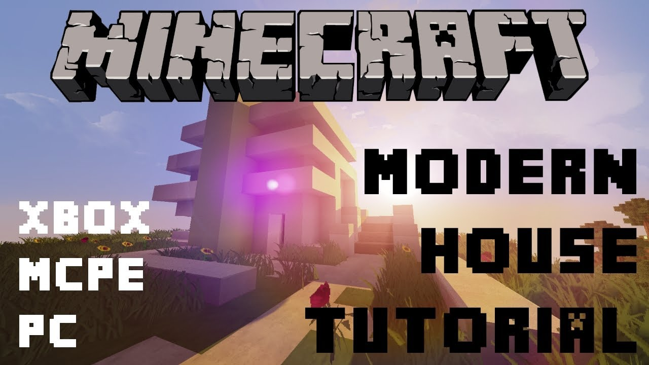 Minecraft Modern House Tutorial XboxMCPEPC Fast and Easy