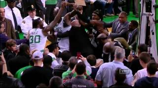 crazy Rajon Rondo fight agains the nets