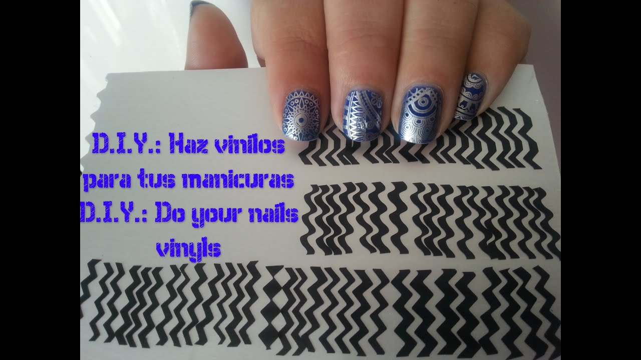 DIY Vinilos Para Manicuras Muy Facil Do Your Nail Vinyls