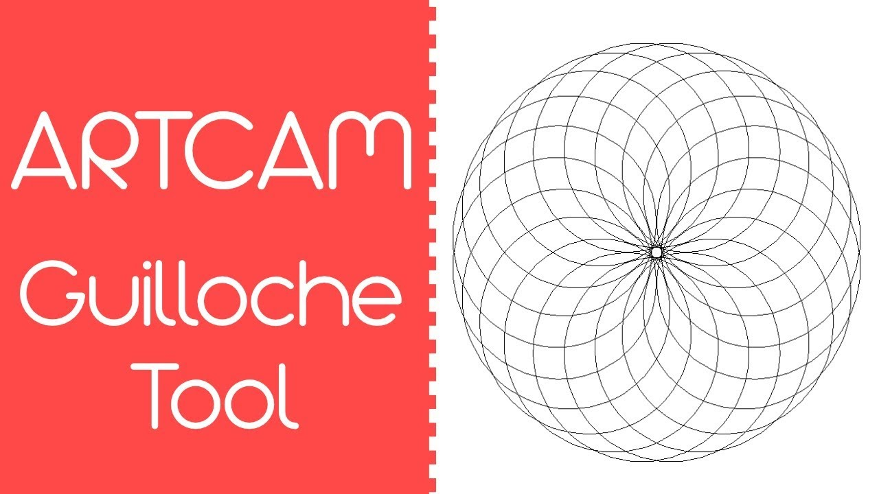 New Guilloche tool in Artcam 2017
