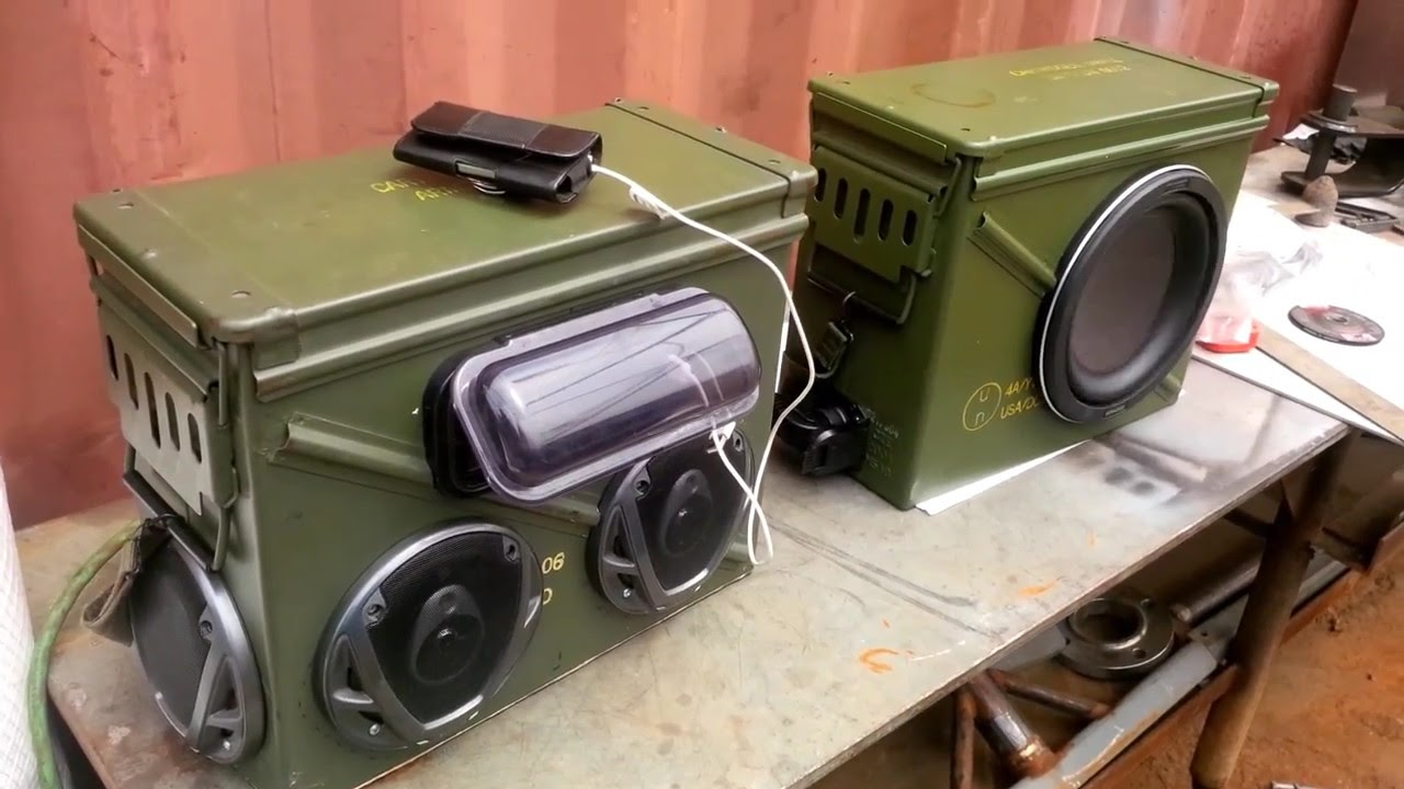 maxresdefault ammo can boom box v2 0 ( 1 6) youtube Ammo Can Cup Holder at nearapp.co