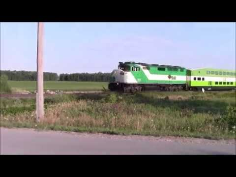 Go Trains in Barrie