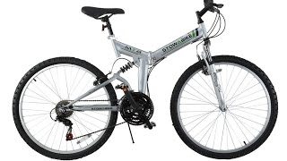 "Stowabike 26"" Folding Dual Suspension Mountain Bike 18 Speed Shimano Bicycle"