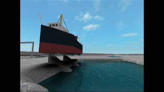 ROBLOX: Tanker Paddle boat Side lancement