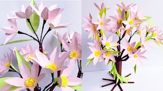 DIY Colorful Paper Tree with  Sticky Notes   Home Decoration Ideas    #49  