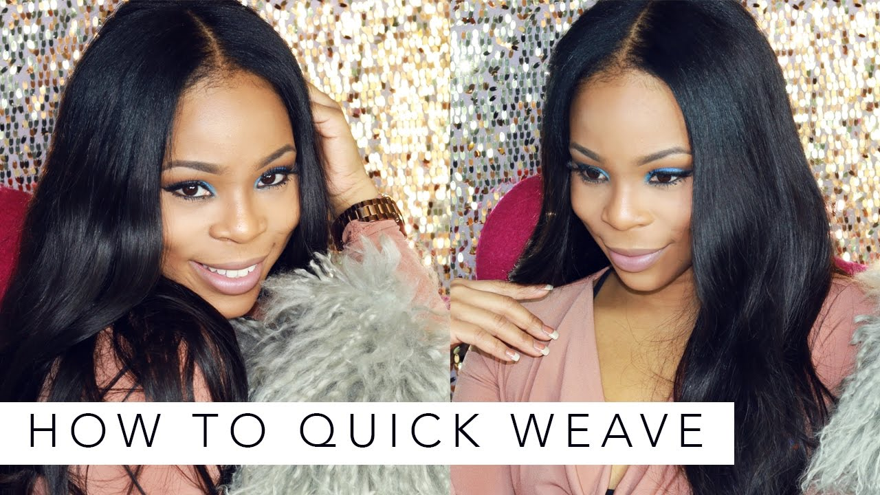 how to do a quickweave Do not use too much glue and make sure that the lengths are even how to do a quick weave for diyers this video is for the ladies like me that w.