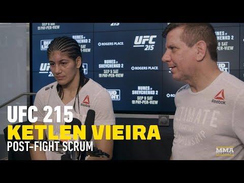 UFC 215 Ketlen Vieira, Coach Believe She's One Win Away From Title Shot After Sara McMann Win