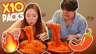 SPICIEST RAMEN IN THE WORLD 10X 🔥 MUKBANG  | kenroVlogs