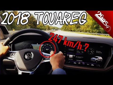 New 2018 VW Touareg III - POV Highspeed Test Drive | German Autobahn