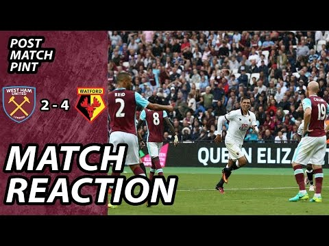 West Ham 2 Watford 4 - Post Match Pint