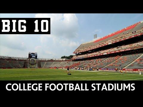 College Football Stadiums - Big Ten Conference (BIG10)