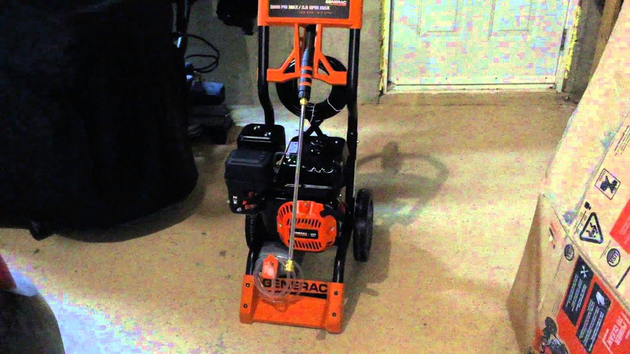 generac pressure washer 6596 2800 psi walk around youtube rh youtube com