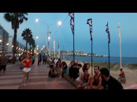 Party at Playa de los Pocitos, Montevideo, Uruguay