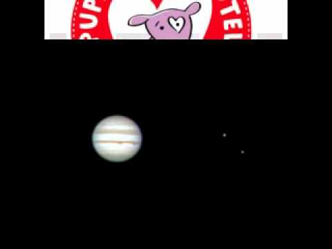 "Jupiter and two Moons Ganymeade & Callisto through celestron 8"" telescope and Final photo"