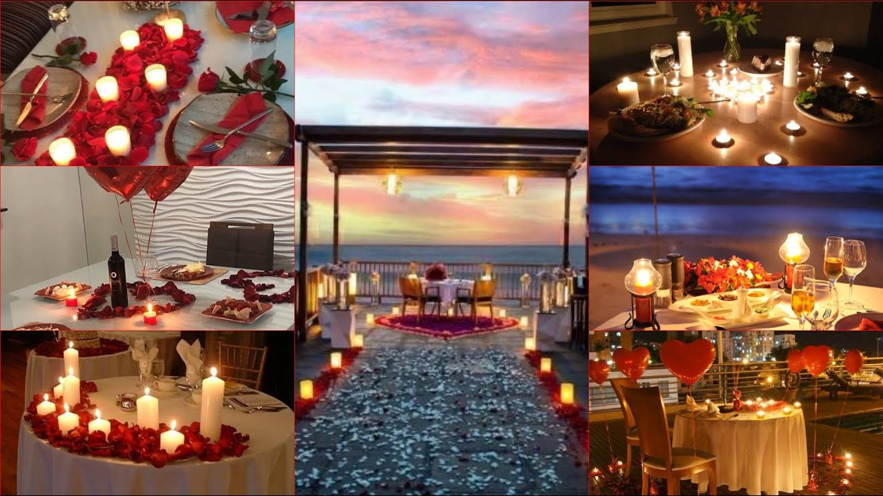Diy Romantic Dinner Decoration Ideas For Couples Candle Light Dinner Decorations Ideas Youtube