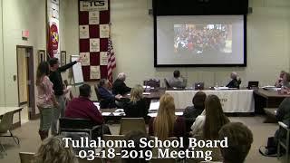 Tullahoma School Board meeting 03-18-2019