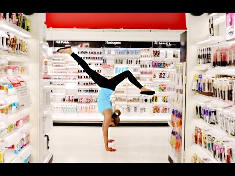 DOING GYMNASTICS IN PUBLIC!