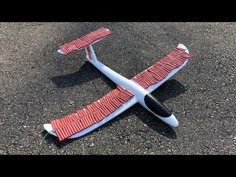 Toy Airplane vs 1000 Firecrackers