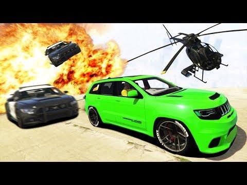 Погоня с Вертолётом за Jeep Demonhawk в ГТА 5 Онлайн