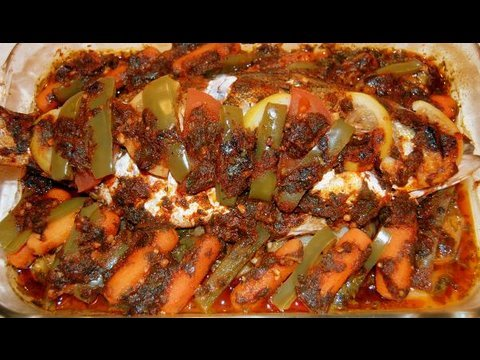 Moroccan baked fish recipe cookingwithalia episode 55 - Moroccan cuisine recipes ...