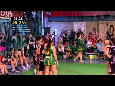 Indoor Netball World Cup 2014  21&Under : Australia Vs New Zealand