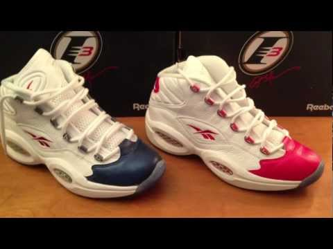 Reebok Questions - Iverson pro model- Blue toe and Red toe- Sneaker Review- ON feet at end!