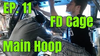 Project 240 - Le Drift Car II | Ep. 11 - Main Hoop and Rear Supports | FD Spec Cage Build
