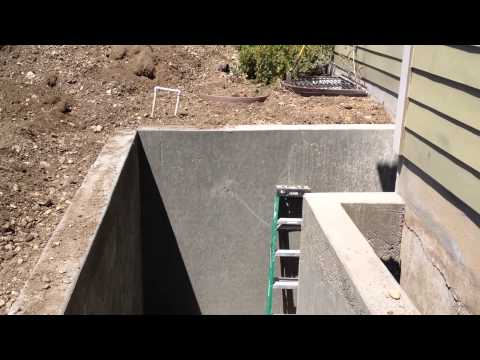Basement Entrance Door construction - retaining wall enclosure [not a how-to]